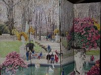 015  LUXEMBOURG GARDENS, PARIS, FRANCE (A FOUR PANEL FOLDING SCREEN) ACRYLIC ON CANVAS 7' X 8' $18,000