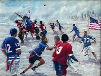 "046  BUDDY FOOTBALL ACRYLIC ON CANVAS 18"" X 24"" IN A PRIVATE COLLECTION – LA JOLLA, CALIFORNIA"