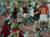 "081  HOMECOMING PEP RALLY - USC ACRYLIC ON CANVAS 40"" X 40"" $9000"