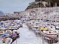 "114  MARINA – SAN SEBASTIAN, SPAIN ACRYLIC ON CANVAS 54"" X 58"" IN A PRIVATE COLLECTION – TOLUCA LAKE, CALIFORNIA"